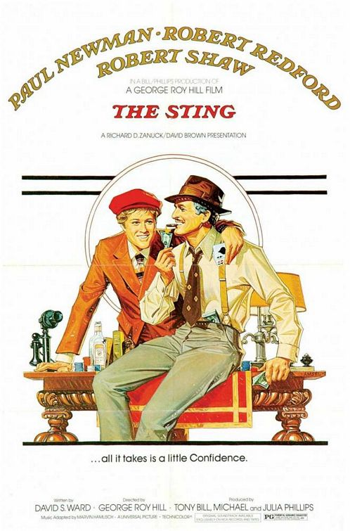 The Sting 1973 movieloversreviews.filminspector.com poster