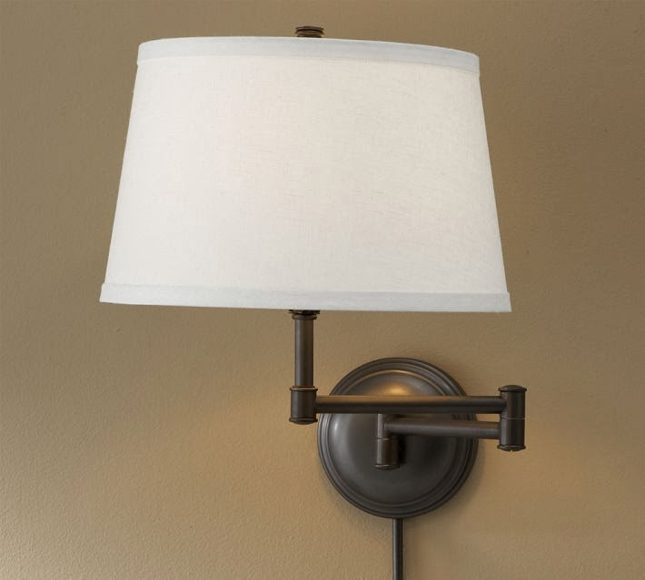 Pottery Barn Wall Lamps: Pottery Barn Chelsea Swing Arm Sconce