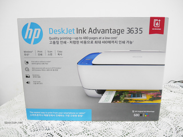Before the unboxing of the HP DeskJet Ink Advantage 3635 All-in-One Printer