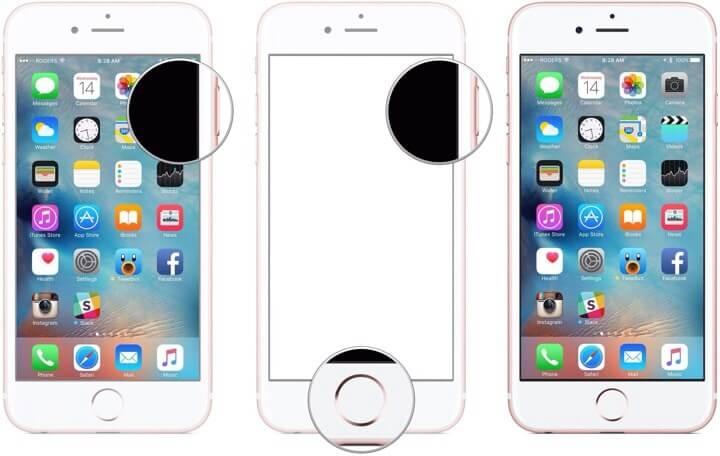 Mengambil Screenshot Menggunakan Tombol Home dan Power di iPhone