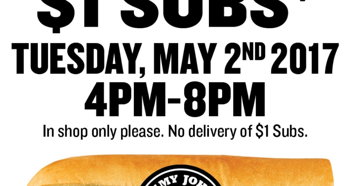 photograph regarding Jimmy Johns Printable Coupons identified as Jimmy johns coupon code 2019