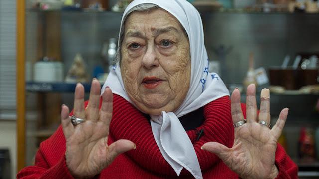 Argentina: Ordenan la detención de la presidenta de Madres de Plaza de Mayo