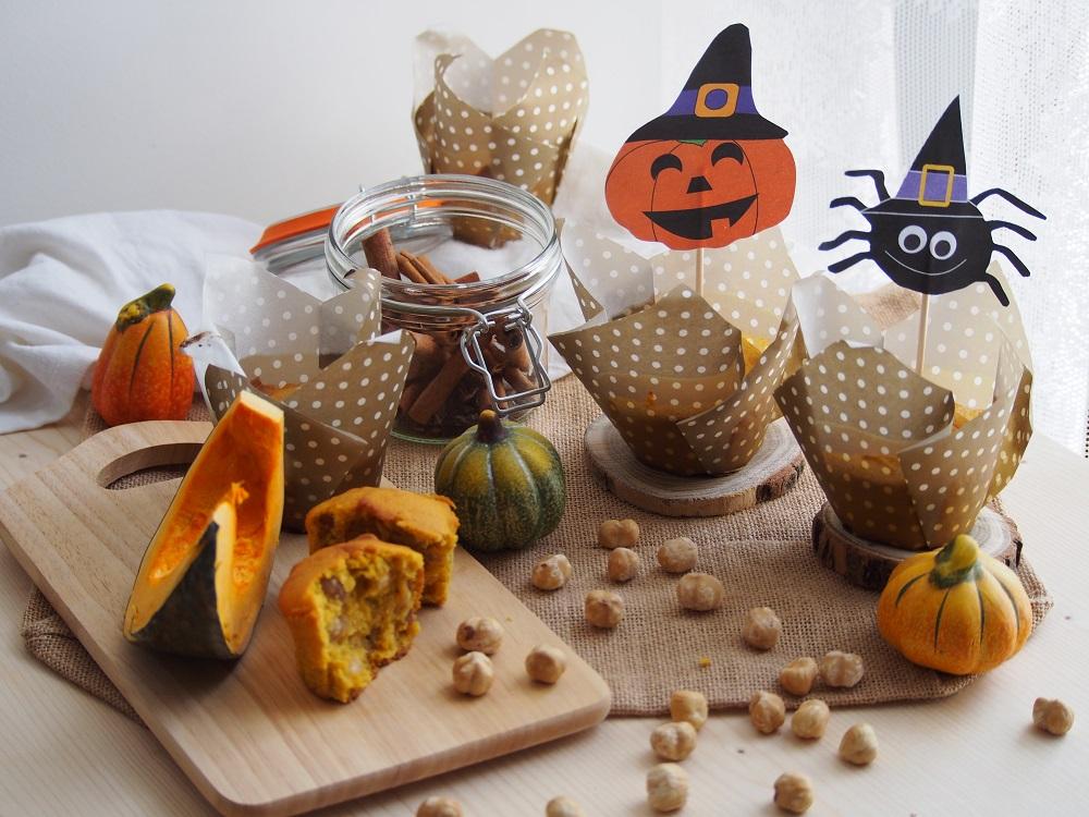 Halloween's muffin alla zucca e nocciole