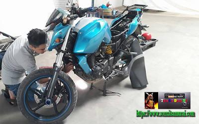 sơn xe máy màu xanh nước biển 2511