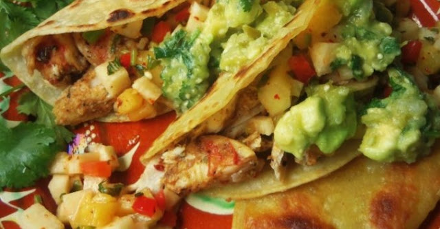 How to Grilled Shrimp Tacos with Pineapple Jicama Salsa