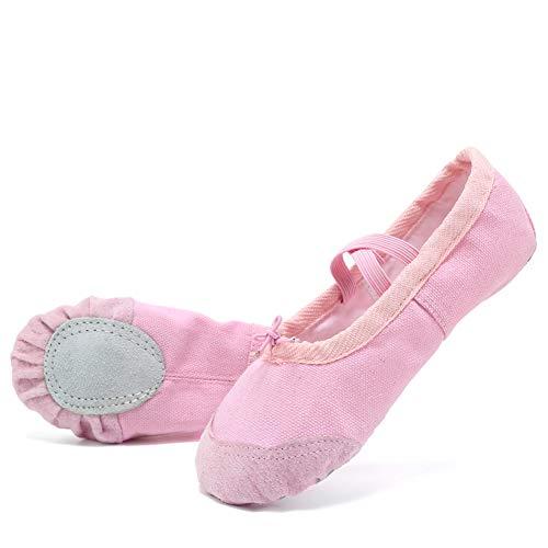 9b6a1842c758 CIOR Ballet Shoes Slippers for Girls Classic Split-Sole Canvas Dance  Gymnastics Yoga Flats 2019
