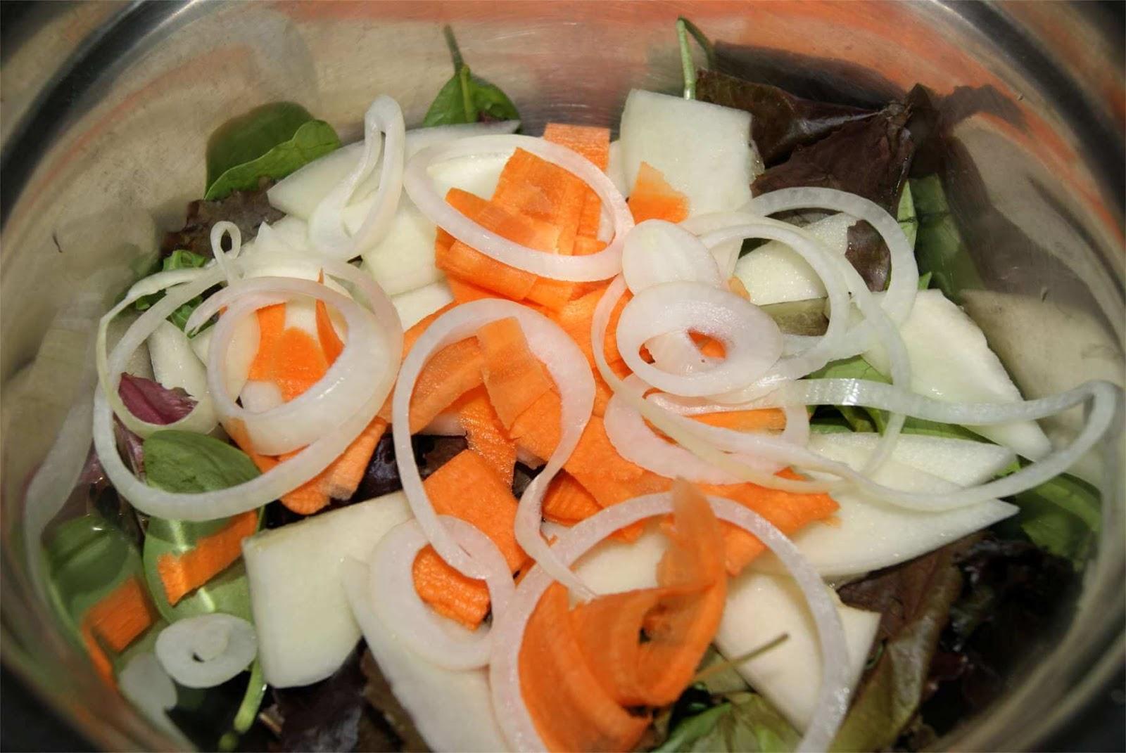 ensalada de melón con salsa de yogur griego paso 3