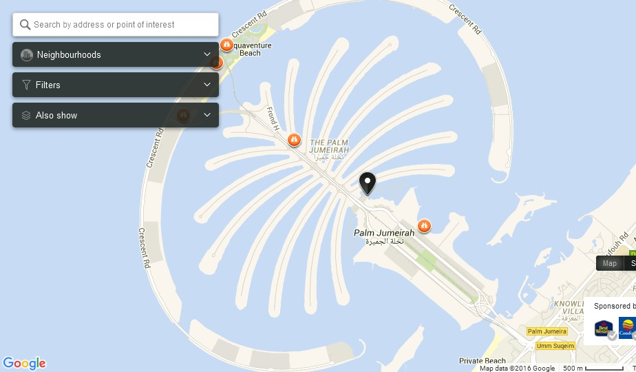 uae dubai metro city streets hotels airport travel map ...  dubai palm islands diagram