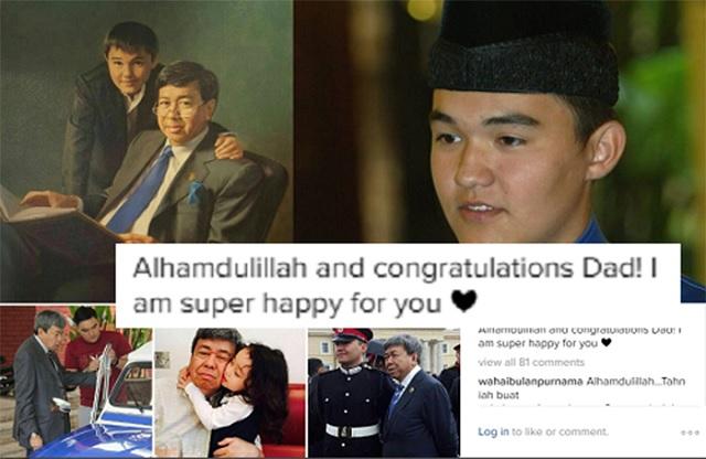 Ucapan 'Sweet' Raja Muda Selangor Sempena Pernikahan Ayahandanya
