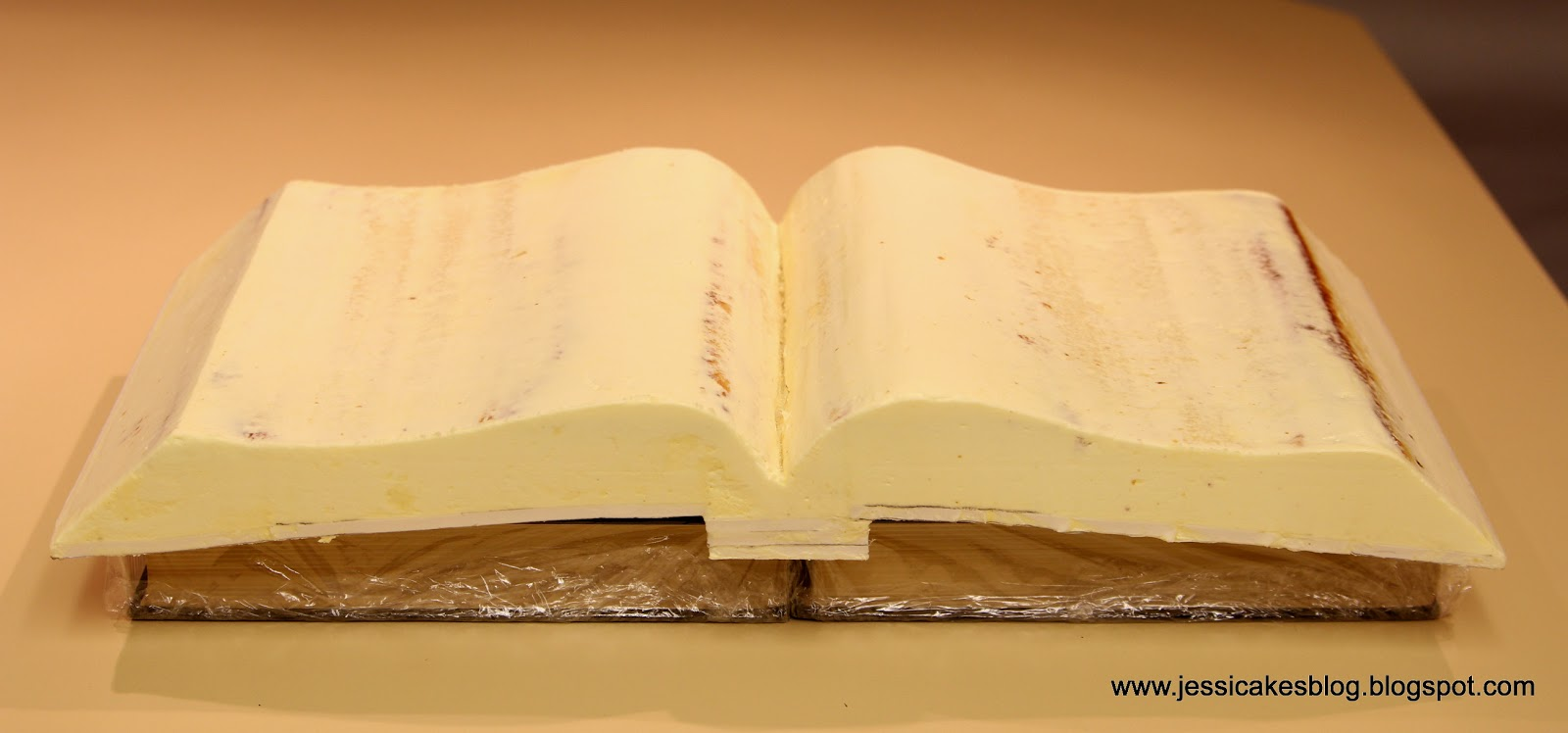 Cake Designs Book Shape : How To Make An Open Book Cake - Jessica Harris Cake Design
