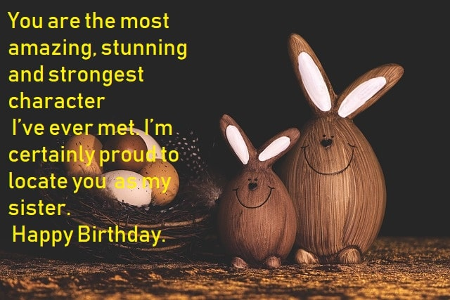 Lovely Happy Birthday Wishes, Quotes, Status & Messages To My Sweet Sister
