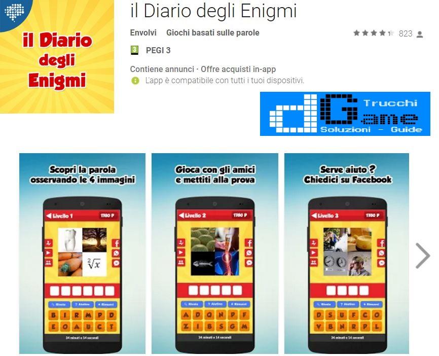 Soluzioni il Diario degli Enigmi | Tutti i livelli risolti con screenshot soluzione