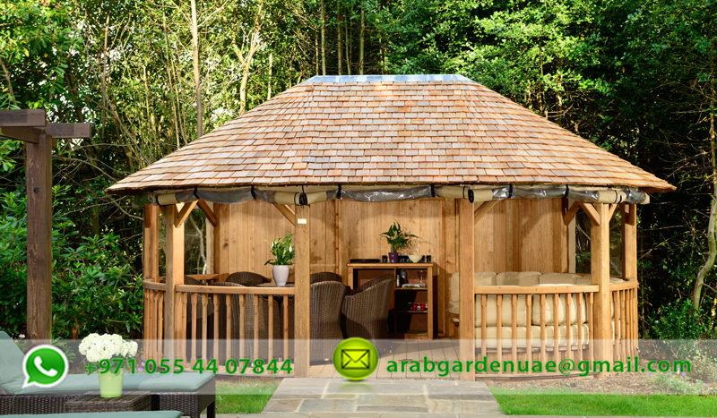 Wooden gazebo garden gazebo in uae cabanas gazebo uae for Garden cabana designs