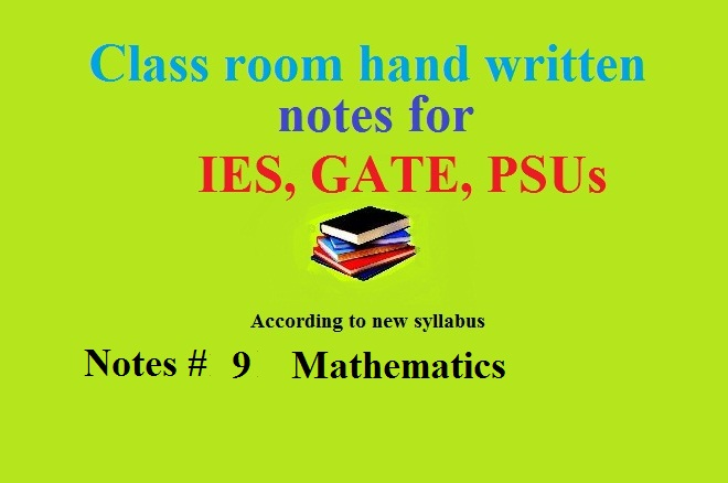 ACE academy notes of Engineering Mathematics for GATE, IES