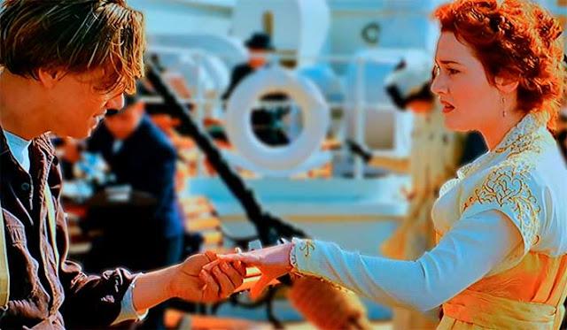 cena Rose e Jack Titanic