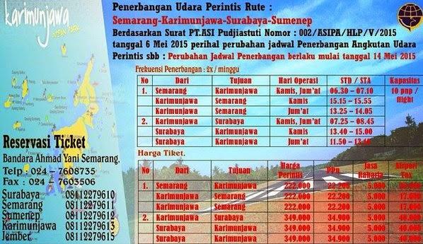 Jadwal dan Harga Tiket Pesawat Karimunjawa