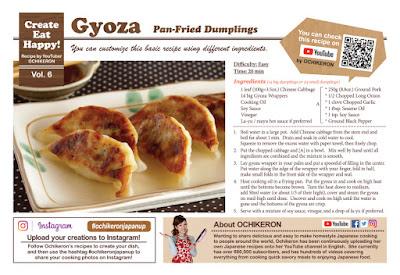Gyoza Recipe Card