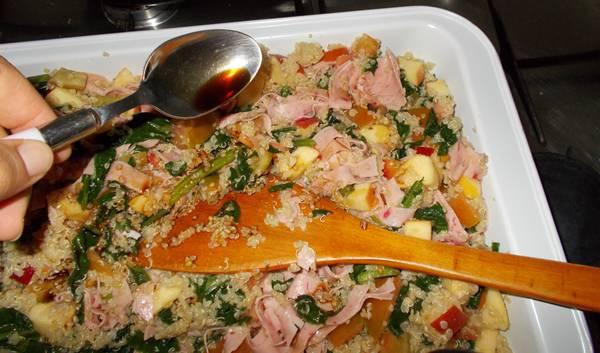 Receita de salada de quinoa completa