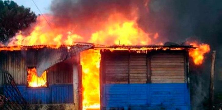 Policía Nacional apresa hombre que incendió casa en la que vivía en condición de inquilino