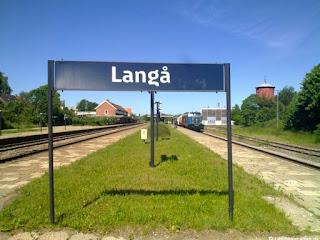 Langå Banegård er knudepunkt for flere togstrækninger.