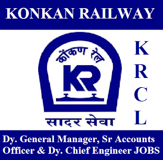 Konkan Railway Corporation Limited, KRCL, Konkan Railway, DGM, Account Officer, Graduation, Railway, RAILWAY, Indian Railways, freejobalert, Sarkari Naukri, Latest Jobs, krcl logo