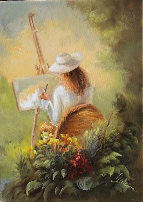 Bildergebnis für mujer pintando cuadro