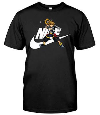 Kingdom Hearts Sora Nike T Shirt Hoodie