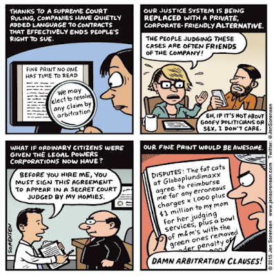Mandatory Arbitration cartoon by Jen Sorensen