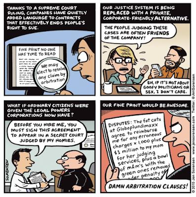 Mandatory Arbitration cartoon by Jen Sorensen