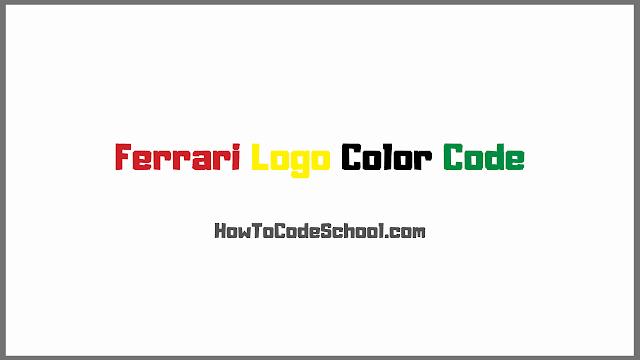 Ferrari Logo Color Code