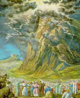 Israelites at Mount Sinai - Artist unknown