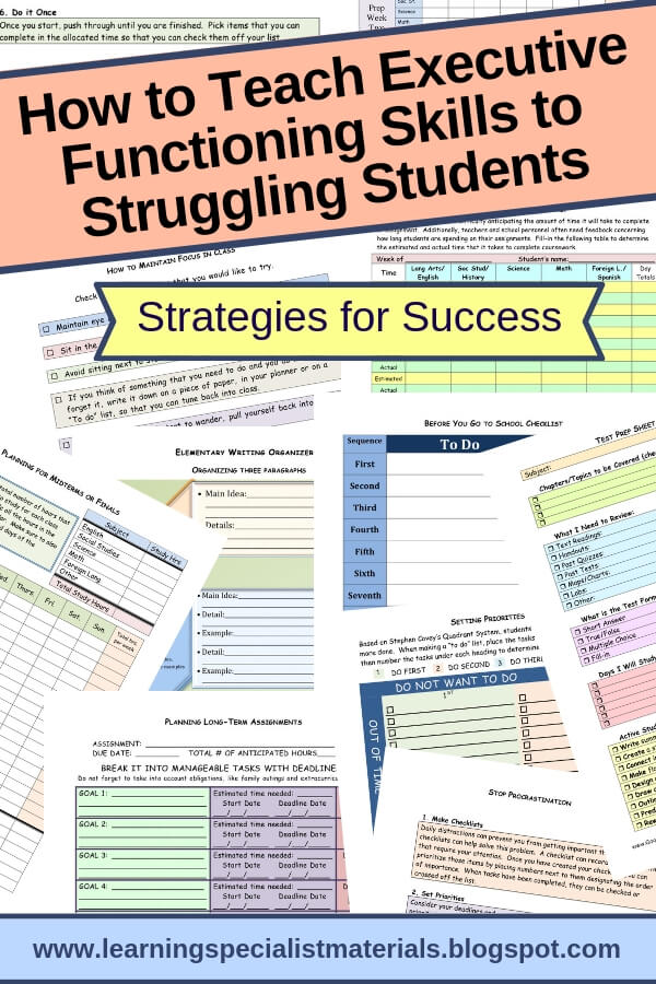 executive functioning strategies