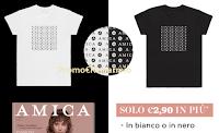 Logo In edicola con AMICA la T-Shirt  Monogramma in bianco e nero