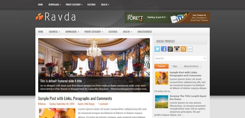 Ravda Free Blogger Template