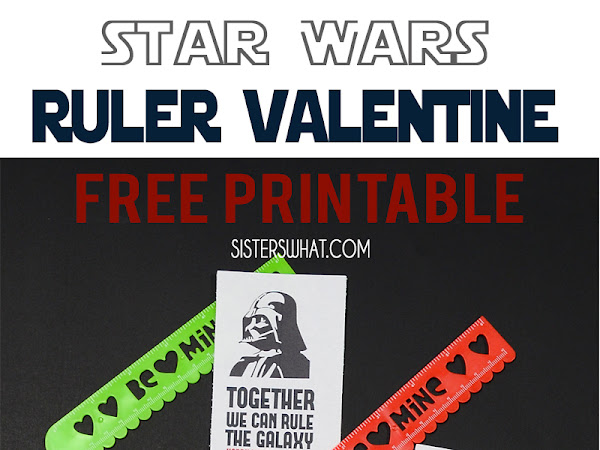 Star Wars Ruler Valentine Free Printable