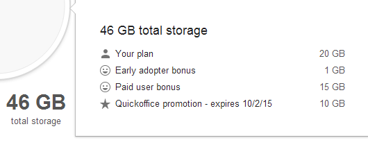 10 GB of Free Google Storage for Installing Quickoffice