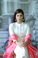 Mannara Chopra in Silky White Salwar Suit with Pink Chunni Latest Exclusive Pics March 2017 ~  020.JPG