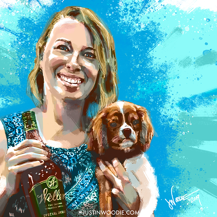 Anna And Weller Digital Painterly Illustration