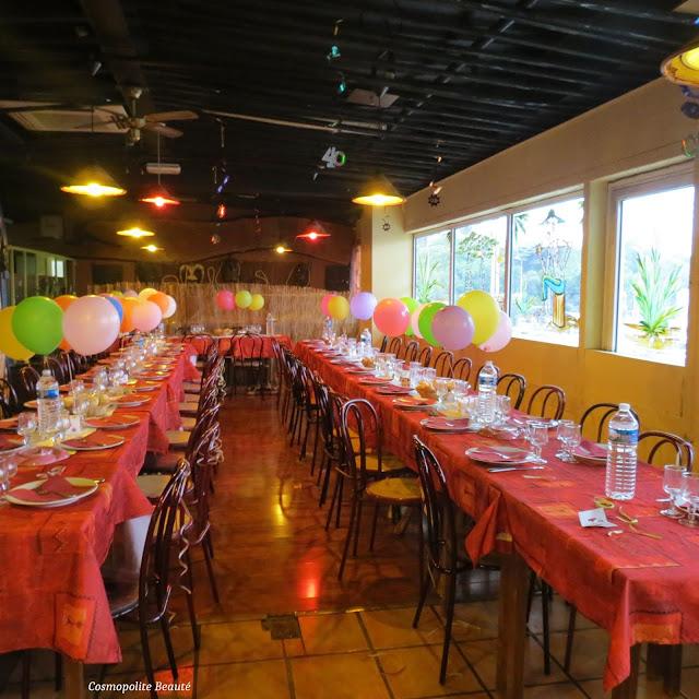 anniversaire 40 ans, restaurant le Bouzou, décoration restaurant, déco anniversaire, Le Bouzou Montpllier, 40 ans