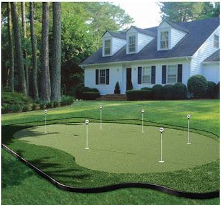 Thiết kế thi công sân tập golf mini trong khu vilaa, resort, khách sạn