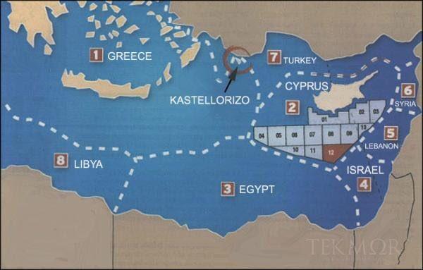Yunanistan İçin Ülkelerin Akdeniz Sınırları