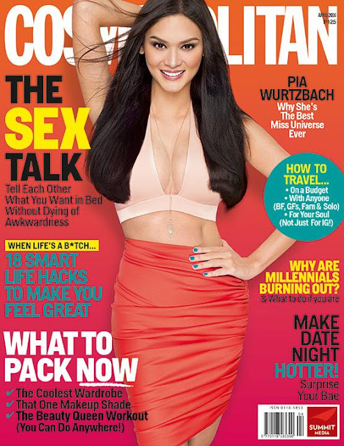 Pia Wurtzbach Cosmopolitan April 2016 Cover
