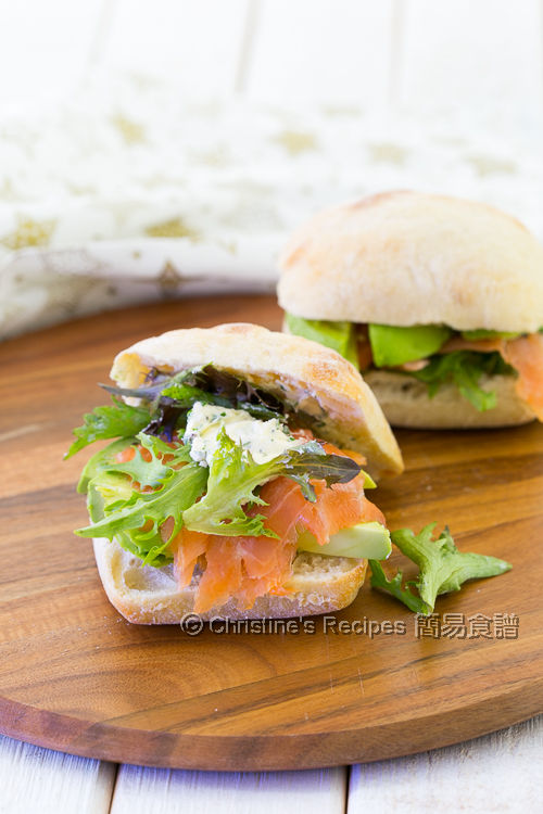 Smoked Salmon with Cream Cheese Ciabatta01