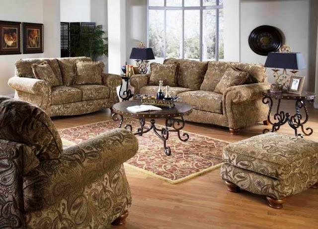 Traditional sofas living room furniture elegant classic - Elegant table lamps for living room ...