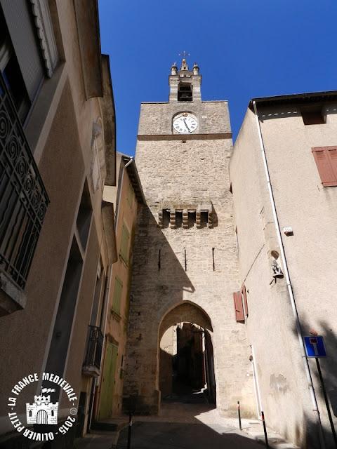 Cucuron (84) - Tour-porte de l'Horloge