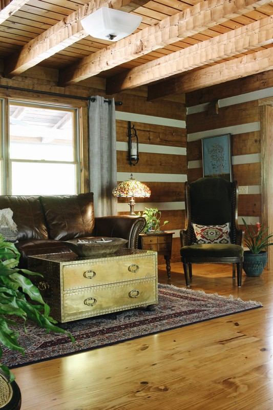 log-cabin-vintage-sarreid-brass-coffee-table