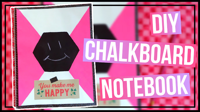 DIY Chalkboard Notebook Back to School Notebook Idea