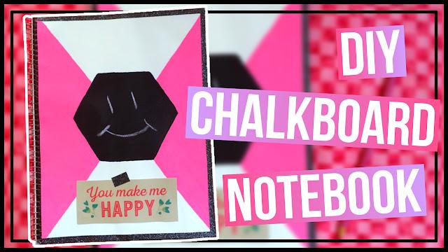 DIY Chalkboard Notebook Back to School Notebook Idea