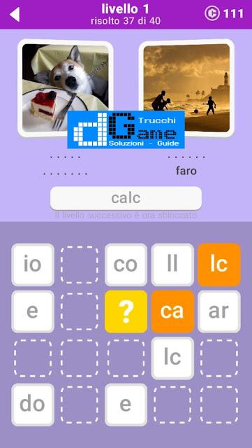 680 Parole soluzione pacchetto 1 livelli (1-20)