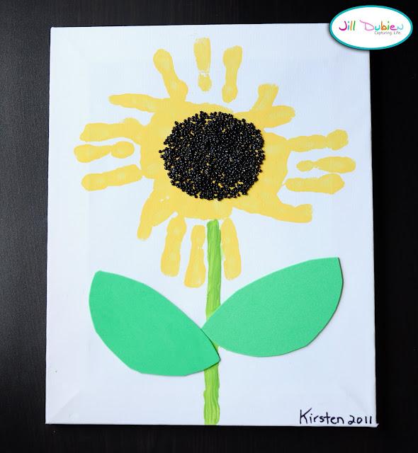 Artist Postcards Handprint Sunflower Tutorial Kids Craft Ideas
